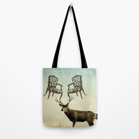 louis xv stag chairs Tote Bag