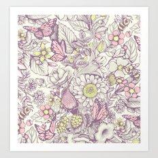 Beauty (eye of the beholder) - pale version Art Print