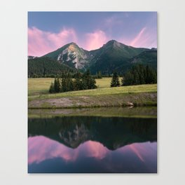 Two towers - landscape, nature, print, painting, wallpaper, slovakia Canvas Print
