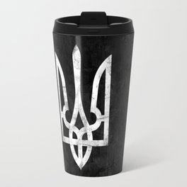 Ukraine Black Grunge Travel Mug