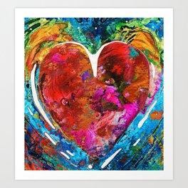 Colorful Heart Art - Everlasting - By Sharon Cummings Art Print
