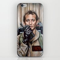 murray iPhone & iPod Skins featuring Bill Murray / Ghostbusters / Peter Venkman by Heather Buchanan