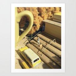 Sentimental Fall - Yellow Art Print