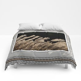 YAKU JIMA GRASS IN BACKLIT SUN Comforters
