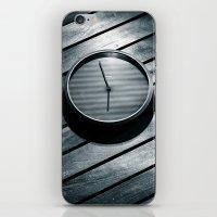 wall clock iPhone & iPod Skins featuring The Clock by Mauricio Santana