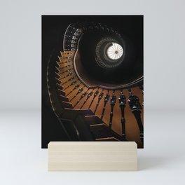 Pretty brown spiral staircase Mini Art Print