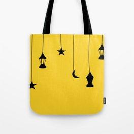 yellow falling star Tote Bag