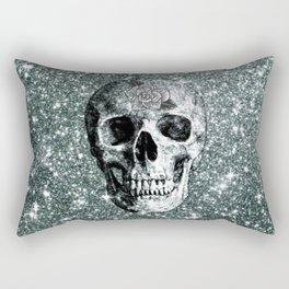 Modern sparkling Skull E Rectangular Pillow