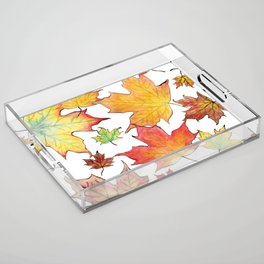 Autumn Maple Leaves Acrylic Tray