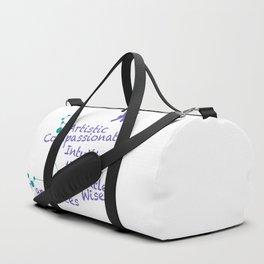 Zodiac Sign Pisces Duffle Bag