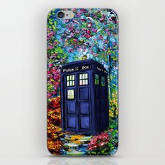 Tardis Flowers Painting iPhone & iPod Skin