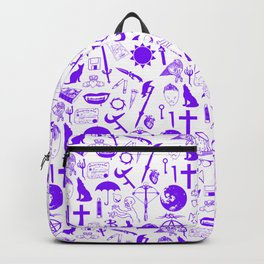 Buffy Symbology, Purple Backpack