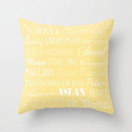 Narnia Celebration- shortbread Throw Pillow