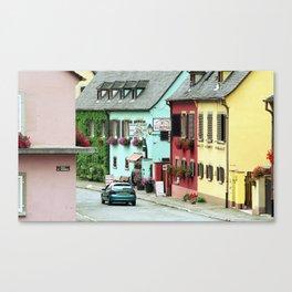 Pastel Town : Alsace Canvas Print