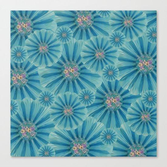 Fractal Flower Pattern Canvas Print