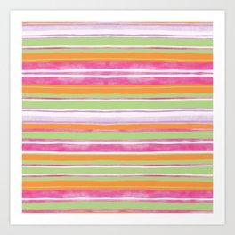 Multicolored Bubblicious stripes Art Print