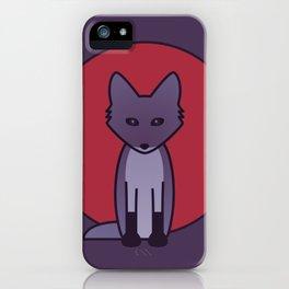 Purple Fox - Kitsune Visits Japan iPhone Case