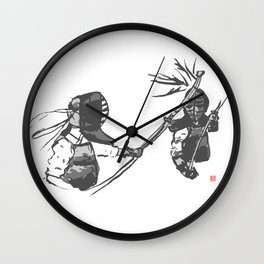 Naginata Sumi-E by Takemi Wall Clock
