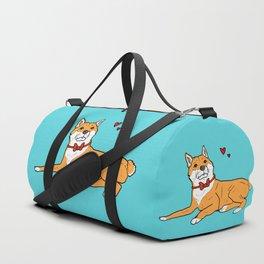 Shiba Inu Love Duffle Bag