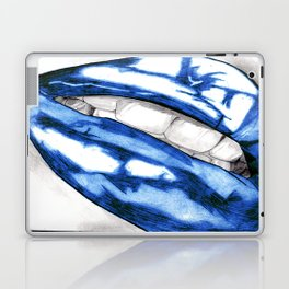 Hot Lips Blue Laptop & iPad Skin