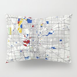 Indianapolis map poster print wall art | Indiana gift  | Modern map decor Pillow Sham