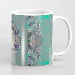Heart Source Meditation Luminescent Green Boho Mandala Coffee Mug