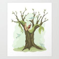 Mermaid Tree Art Print