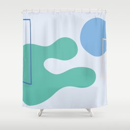 I don't know - on blue background Shower Curtain
