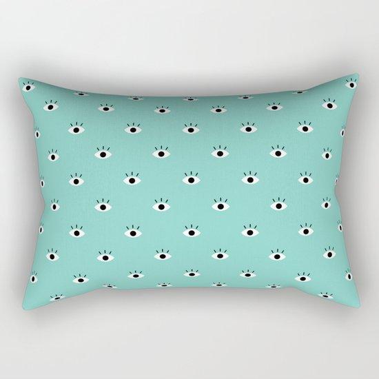 Blue Vision Rectangular Pillow
