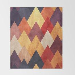 Eccentric Mountains Throw Blanket