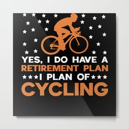Bicycle Near Bicycle Metal Print