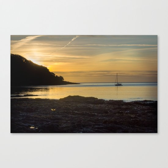 Sunrise Pendennis Point Falmouth Canvas Print