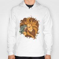 lion Hoodies featuring Lion by Tatiana Obukhovich