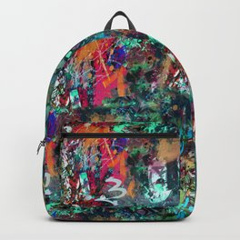 Graffiti and Paint Splatter Backpack
