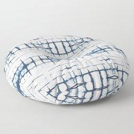 Faded Japanese Shibori Floor Pillow