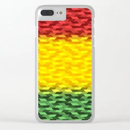 Reggae Vibration Clear iPhone Case