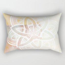Authentic white mandala on pink Rectangular Pillow