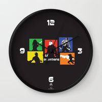 guardians Wall Clocks featuring Guardians by PeterParkerPA