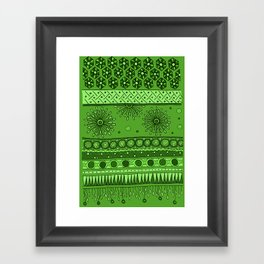 Yzor pattern 007 green Framed Art Print