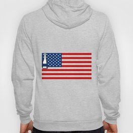 4th of July Beer Drinking Party Flag For Men Women Hoody