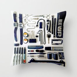 Junk Drawer: Monochrome Throw Pillow