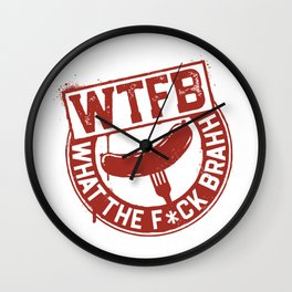 Official WTFBrahh Logo Wall Clock