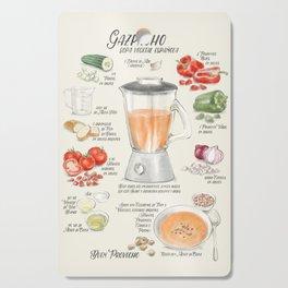 Gazpacho illustrated recipe in Spanish Cutting Board