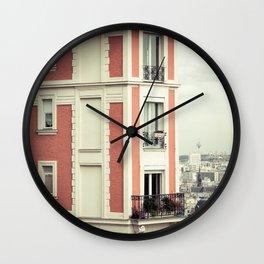 House on the corner Wall Clock