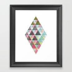 DIAMOND TWO Framed Art Print