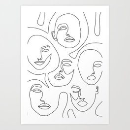 Her and Her Art Print
