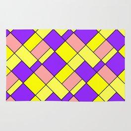 Lemon lilac plaid Rug