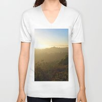 oasis V-neck T-shirts featuring Hidden Oasis  by KyFox