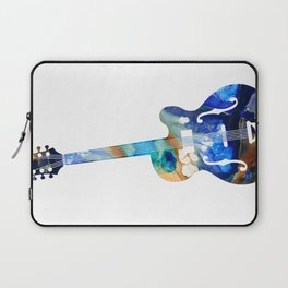 Vintage Guitar - Colorful Abstract Musical Instrument Laptop Sleeve