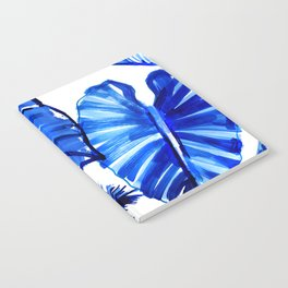 Bright Blue Jungle Leaves Notebook